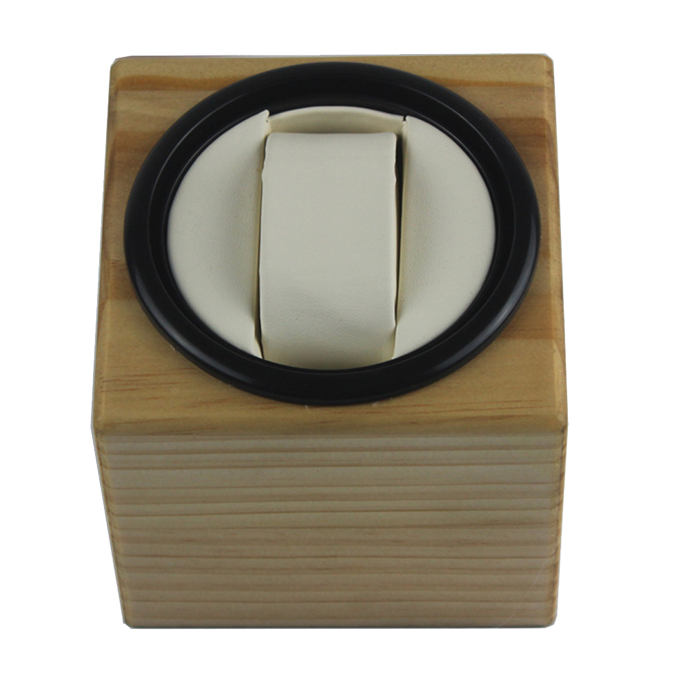Watch Winder ,LT Wooden Automatic Rotation 1+0 Watch Winder Storage Case Display Box(Outside is pine wood color inside is white) ultra luxury 2 3 5 modes german motor watch winder white color wooden black pu leater inside automatic watch winder