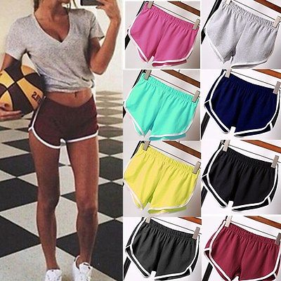 2019 Womens Summer Sports Shorts Gym Workout Fitness Yoga Beachwear Shorts  Hot Clothing 099db83875dc