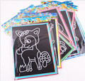 2016 Moda 10 pcs 13*17 centímetros ZCZ papel de rascunho Colorido QUENTE novo Desenho pintura puzzle educação brinquedos clássicos para as crianças