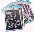 2016 Moda 10 unids 13*17 cm ZCZ cero papel Colorido CALIENTE nuevo Dibujo pintura puzzle educación juguetes clásicos para los niños