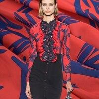 2018 цифровой живописи тонкие пальцы модные крепдешин натуральный шелк ткань для платья рубашки ткани Седа tissu Tecido