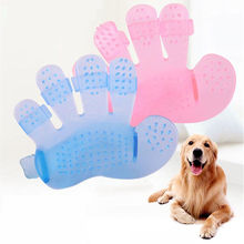 Five Finger Bath Massage Brush Hot Silicone Dog Glove  Hair Cleaning Comb Washing Pet Accessories L188