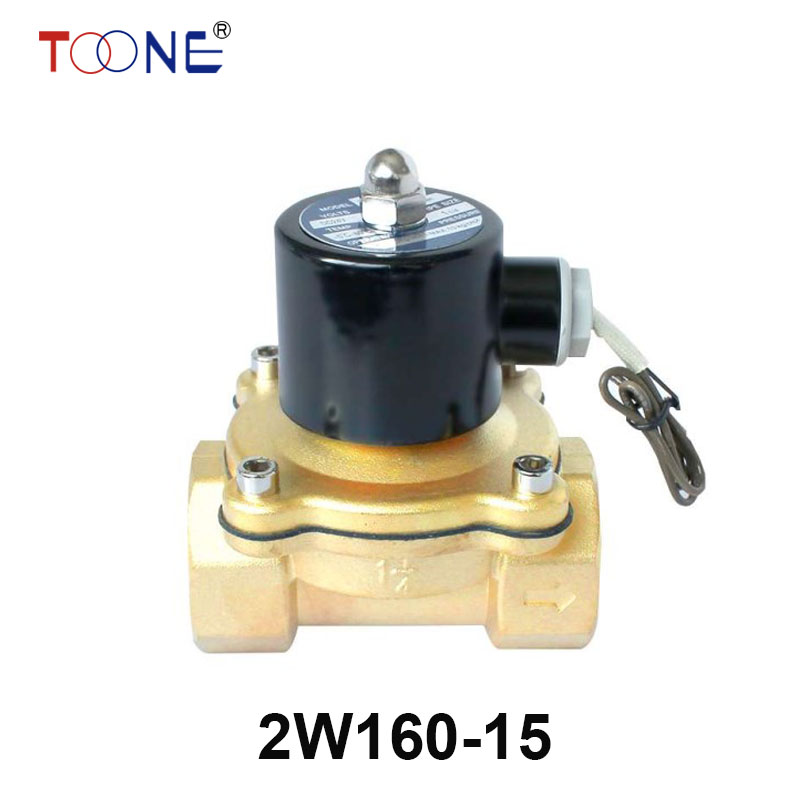 16mm NC 2W160-15 N/C 2 Way 1/2 Gas Water Pneumatic Electric Solenoid Valve Water Air ,DC12V, DC24V AC110V,AC220V,AC380V globe valve 2 way nc 1 1 2 in f npt