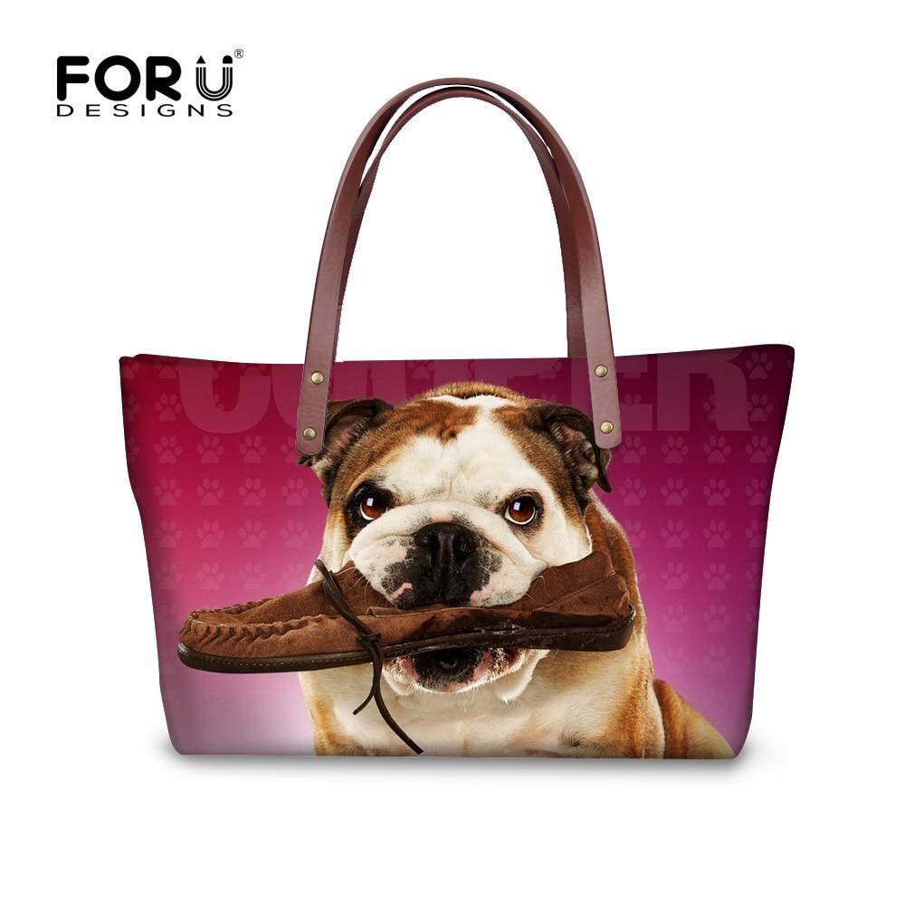 ФОТО Brand Designer Casual Tote Bags for Lady Large Capacity Women Handbags Cute Pug Dog Crossbody Shoulder Bag Large Shopping Bag