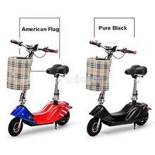 цена на Mini Bike Foldable E-bike Adult Electric Bicycle Bike Women Lady Electric Scooter 350W Brush Motor With Seat 24V 8/10AH Battery