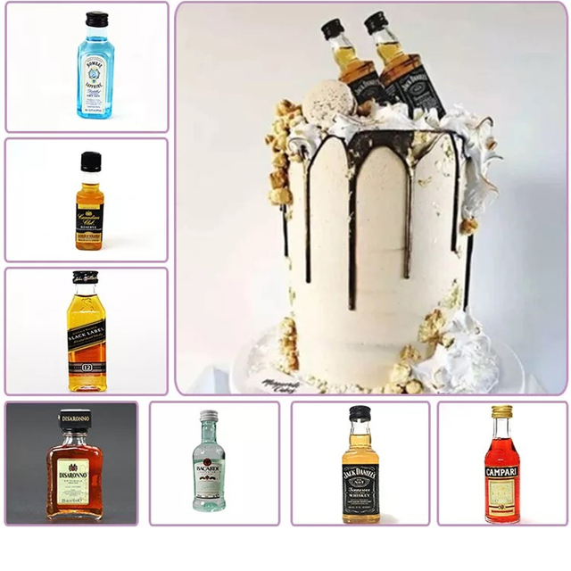 Wine Bottle Motto Cake Topper Decorationchampagne Bottle On Ice And