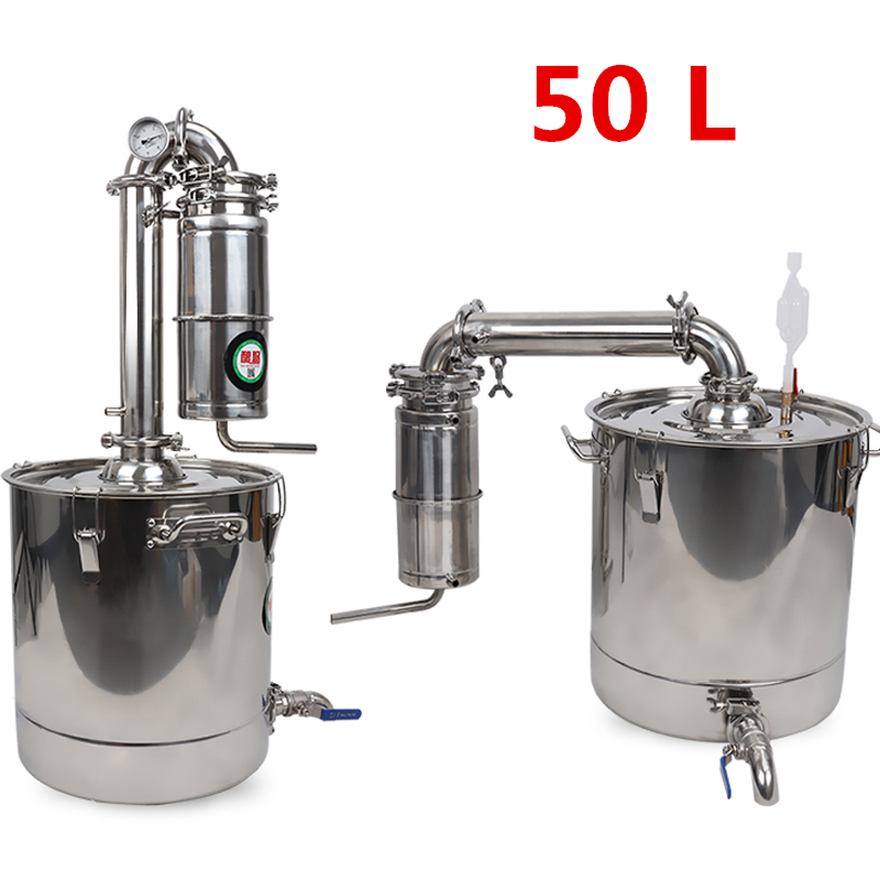 Commercial 50L Large Capacity Stainless Alcohol Distiller Liquor Wine Brewing Device Spirits Distillation Vodka Maker Whisky
