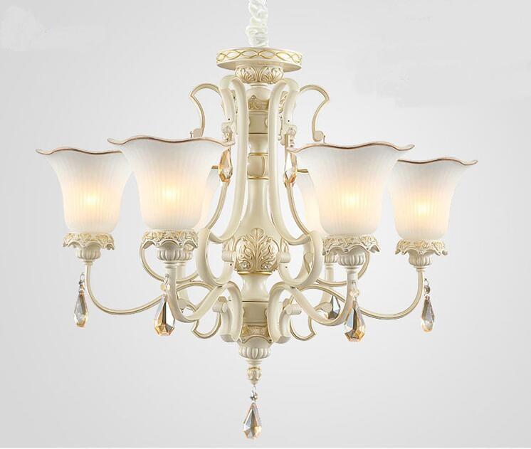 Mehrere Kronleuchter Wohnzimmer Lichter Schlafzimmer Lampe Leuchtet Rustikalen Kurze Weisse Beleuchtung Lampen ZX134China