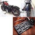 New Black Motorcycle LED Luz Side Mount Matrícula 2004-UP Para Harley Sportster 883 1200 48