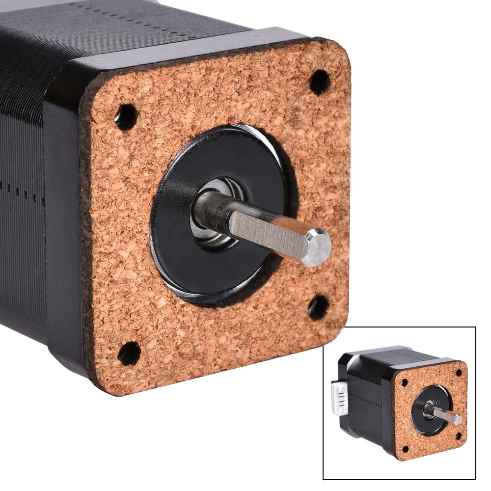 1/5pcs Nema 17 Stepper Motor Damper 3mm Thickness Cork Gasket Damper Nema17 42 Stepper / Isolator For 3D Printer