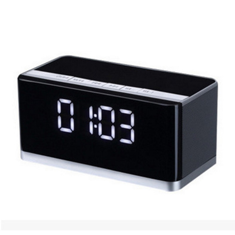 Wireless bluetooth speaker 10W portable stereo bass subwoofer radio sound box clock Alarm tv soundbar boombox led music center in Portable Speakers from Consumer Electronics