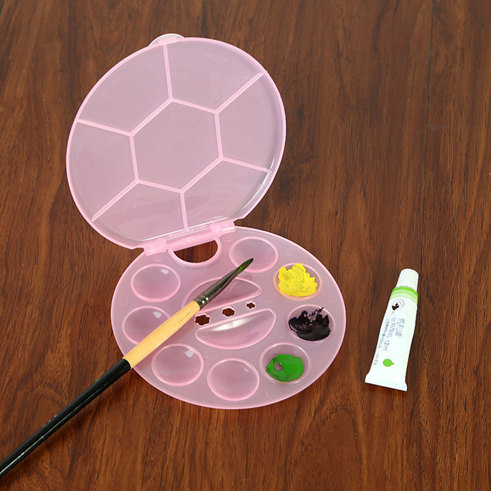 Multi Grid Professional Tools Painting Multifunction Palette Tray Circle Flip Design Drawing Watercolor Washable Kids Art