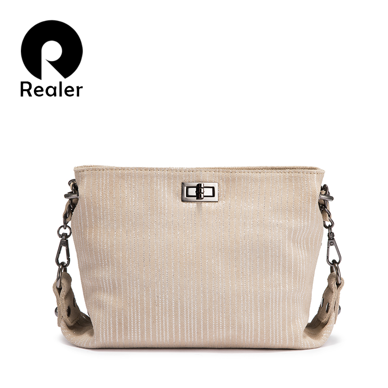 REALER Genuine Leather Crossbody Bags Women Shoulder Bag Messenger Fashion Small Messenger Bag Luxury Design Purses And Handbags