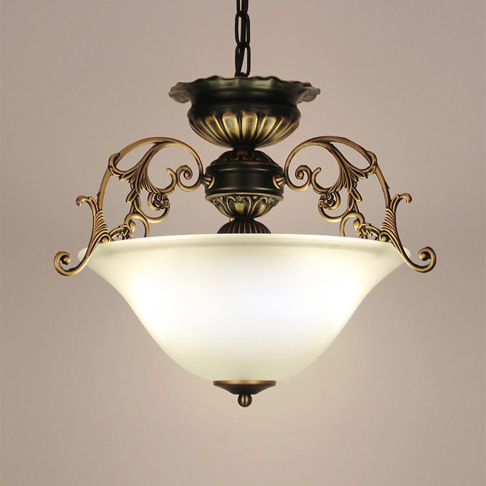 European Kitchen Glass Chain Chandelier Lighting Fixtures Dining Room Chinese Pendant Lamp Balcony Corridor Hanging