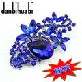 Danbihuabi marca Broches para as mulheres acessórios do casamento jóias de cristal grande Broche de Strass Bouquet alfinete de lapela