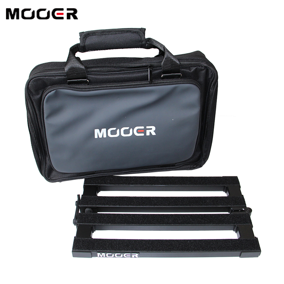 Mooer Stomplate Mini PB-10 Pedal Board for 10 Guitar Effects Foldable Structure with bag / Stage Show Necessity mooer ensemble queen bass chorus effect pedal mini guitar effects true bypass with free connector and footswitch topper