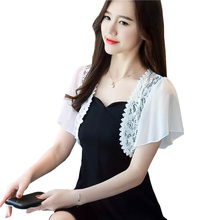 Женские OL модные открытые топы с коротким рукавом, короткая накидка
