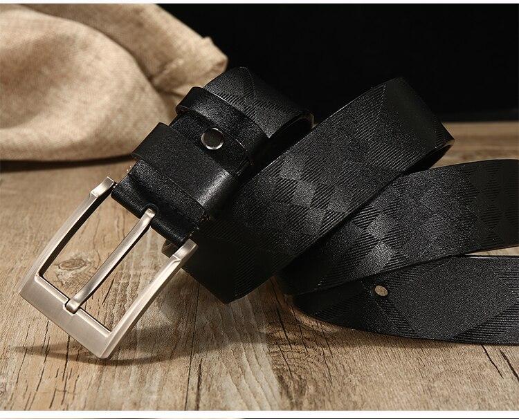 genuine leather belt men vintage