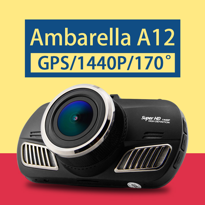 D201 DAB201 A12A55 Ambarella DVR Carro GPS Câmera Do Carro Super HD 1440 P Tela de 2.7 polegada 170 Graus Ângulo Traço Cam GPS Logger