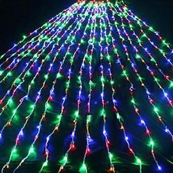 Nowy rok! 2 M x 2 M AC110/220 V LED wodospad ciąg światła  LED boże narodzenie światła dekoracji|Sznur lamp LED|Lampy i oświetlenie -