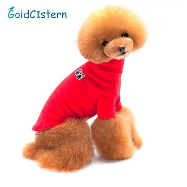 Herbst Winter Hund Pullover Großen Augen Muster Baumwolle Reine ...