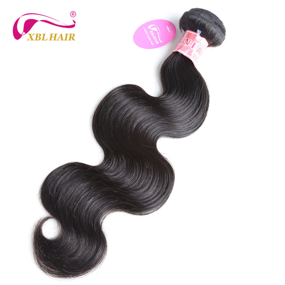 XBL HAIR Peruvian Body Wave Human Hair Weaves Hair Bundles 1 PC Natural Color 8-28 Remy Free Shipping