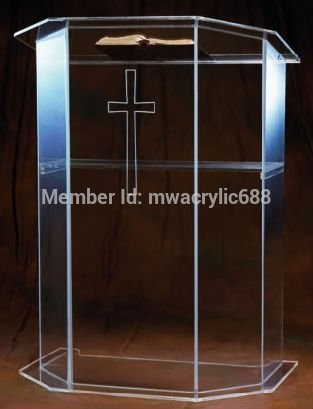Pulpit Furniture Free Shipping High Quality Price Reasonable Beautiful Clear Acrylic Podium Pulpit Lectern Acrylic Pulpit