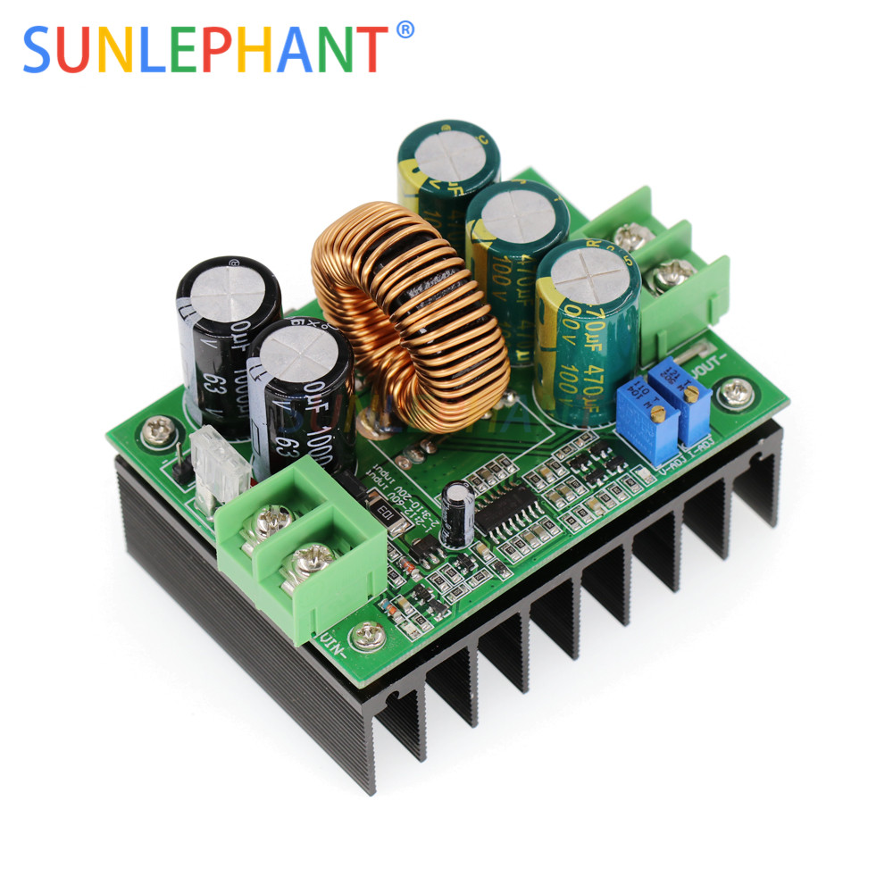 1200W 20A DC Converter Boost Step-up Power Supply Module IN 10-60V OUT 12-80V On-board Regulator