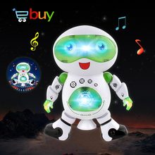 Electronic Smart Space Walking Dance Robot Toy for Child Kids with Music Light Astronaut Brinquedos Electronique Jouets Pet Gift(China)