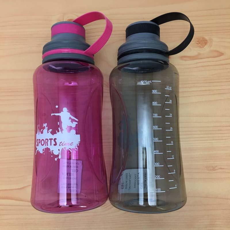 Cheap Fashion 600//1000ML Sports Water Bottle drinking Tritan bpa free Cute leak