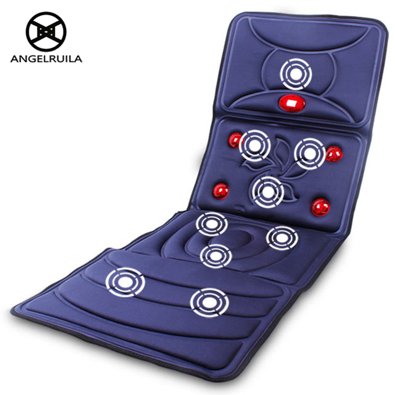 AngelRuila Full-Body Massager Far Infrared Massage Relieve Back Fatigue Mattress Cushion Vibration Body Foot Head Massager chronic prostatitis treatment cushion far infrared heat plus vibration massage therapy for prostate discomfort relief