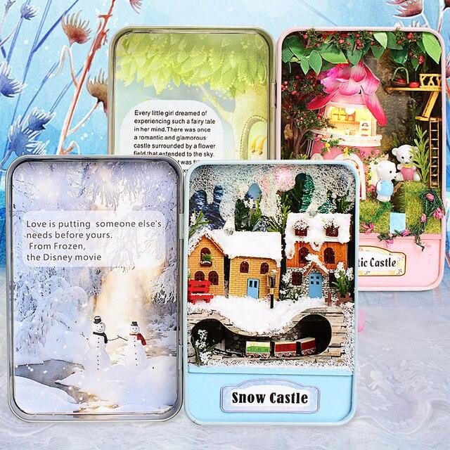 Кукольный Дом Diy миниатюрный Деревянные Головоломки 3D Кукольный Домик miniaturas Мебель Для Дома Куклы Для Подарок На День Рождения Игрушки Коробка Театр Трилогии E