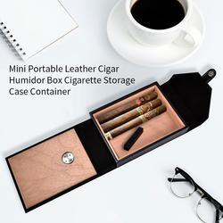 Mini boîte à cigares en cuir Portable, humidificateur à cigare mallette de rangement, conteneur # 4O
