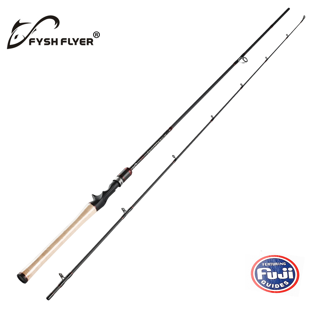 2 1m Carbon Carp Spinning Fishing Rod FUJI 2 Sections Lure Baitcasting Rods M MH 8