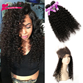 360 Lace Frontal Closure with Bundles Brazilian Virgin Hair with 360 Lace Frontal Closure Curly Hair 360Lace Frontal with Bundle