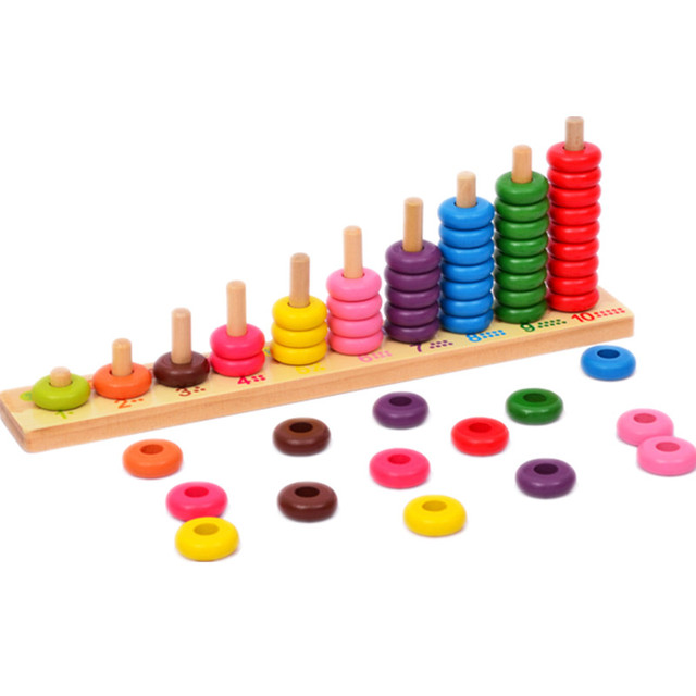 Baby Educational Wooden Toys Abacus Counting Beads Maths Toy Clouds ...