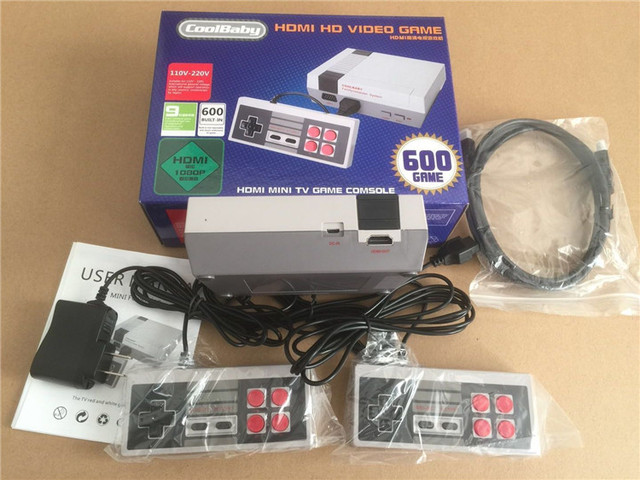 5pcs/lot HDMI Out Retro Classic handheld game player Family TV video game console Childhood Built-in 600 Games