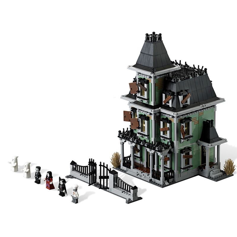 Lepin 16007 Monster fighter Haunted House building bricks blocks Gift Toys for children boys Game Compatible with 10228 lepin 02012 city deepwater exploration vessel 60095 building blocks policeman toys children compatible with lego gift kid sets