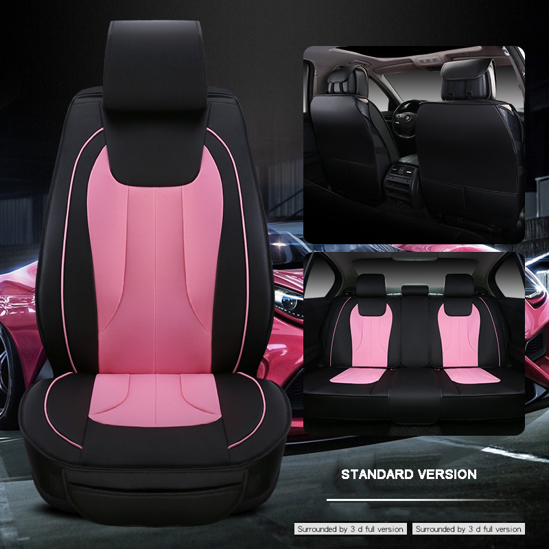 Luxury Leather Car Seat Cover Universal Seat Covers For Fiat 500 Uno
