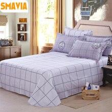 SMAVIA Textiles Para El Hogar Juegos de Sábanas de Cama 100% Poliéster (1 unid) Hoja de Cama Plana con 2 unids conjuntos funda de almohada 120*230/160*230/230*230 cm hoja