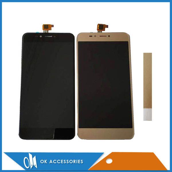 5.5 Noir Or Blanc Couleur Pour BQ BQ-5504 BQ 5504 BQS 5504 Grève Selfie Max LCD Display + Tactile écran Numériseur Avec du Ruban Adhésif