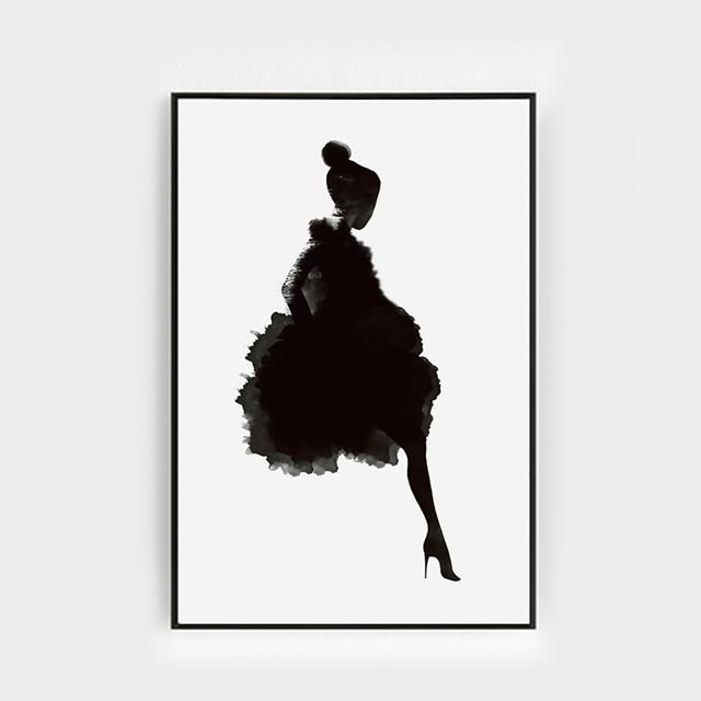 Micsunny black wall art canvas posters painting figures art print picture fashion girls wall decor pictures