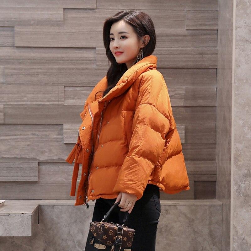 Sleeve Coat Casual orange Wadded Parka Jackets Bat Black Type Loose Cotton Female Cloak Fashion Winter Korean Warm Womens Jacket PtXUBX