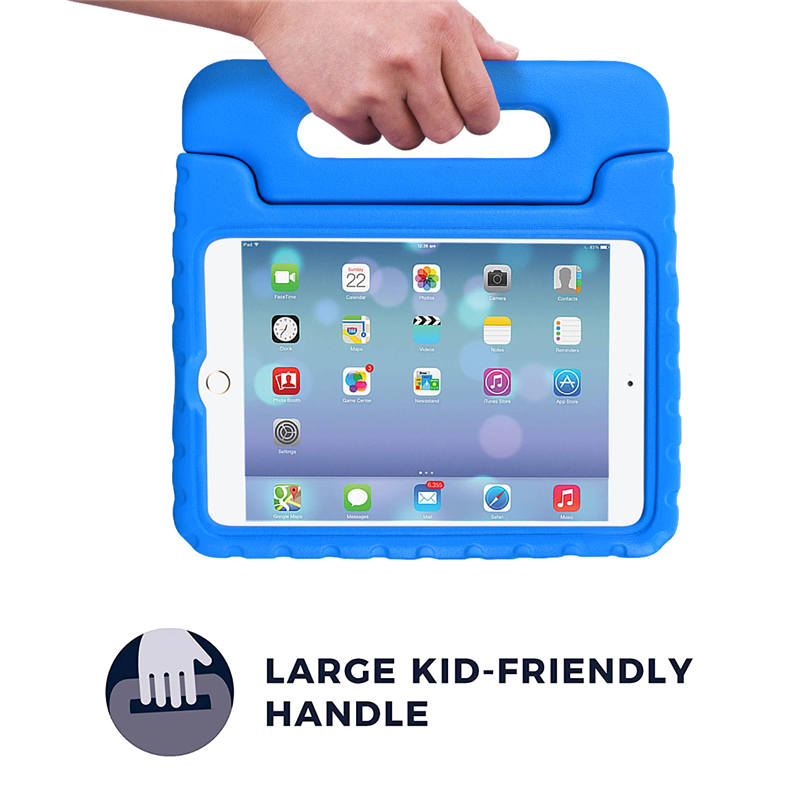 Luxury Silicone Case For iPad Mini 4 Case Cover Shockproof Children Kids Handle Stand Protective Cover For Ipad Mini 4 Case