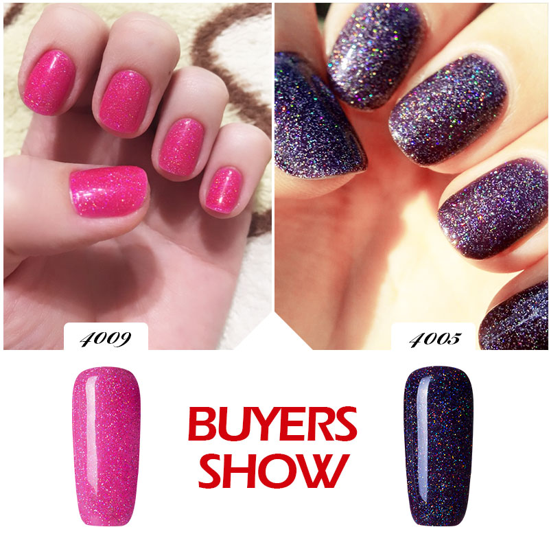 Modelones Pink Color Neon Nail Gel Polish Glitter Color Series Gel ...