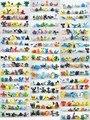 144 Pçs/lote Pokeball Ir Pikachu Mini-figuras PVC Vinil Lote Miniatura Figuras Brinquedos Robô Electabuzz Raticate Pidgeotto Eevee