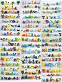 144 Unids/lote PVC Pikachu Pokeball Ir Mini Figuras de Vinilo Lote Miniatura Figuras Juguetes Robot Electabuzz Raticate Pidgeotto Eevee