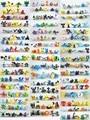 144PCS/Lot PVC Pokeball Go Pikachu Mini Figures Vinyl Lote Miniatura Figures Robot Toys Electabuzz  Raticate Pidgeotto Eevee