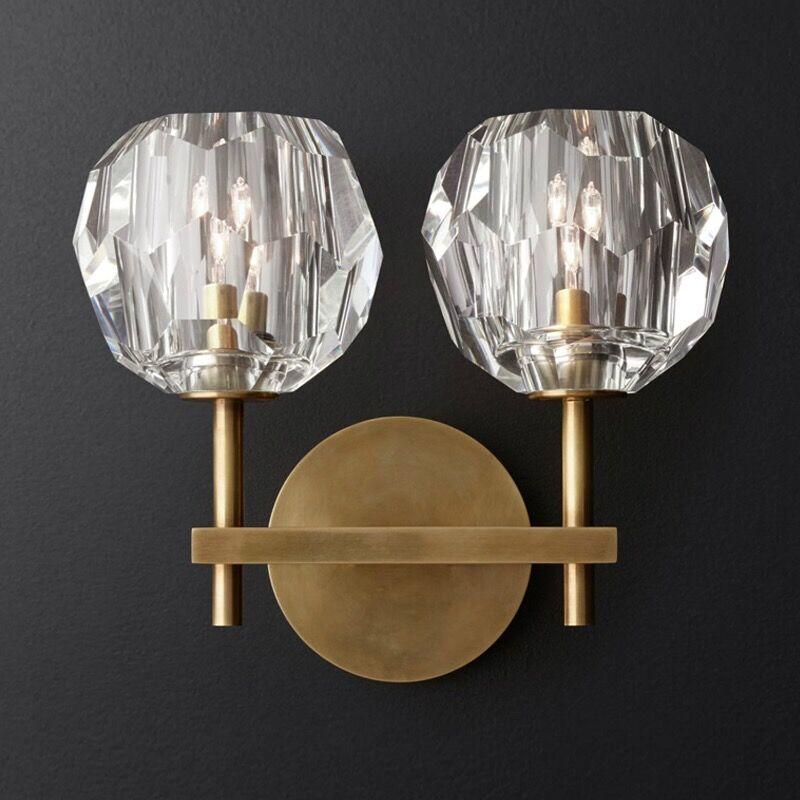 現代のウォールライト創造 K9 クリスタルホールバーキッチンライトロマンチックな壁燭台照明送料無料  グループ上の ライト & 照明 からの LED 室内壁掛け照明 の中 1