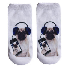 3D Socks Women Personalise Unisex Cute Low Cut Ankle Socks Funny Multiple Colors Cotton Art Socks Print Dog Socks One Size #OR
